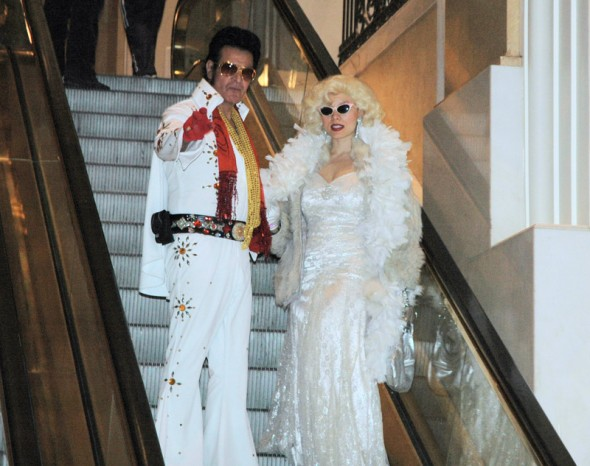 Elvis and Marilyn at The Bellagio