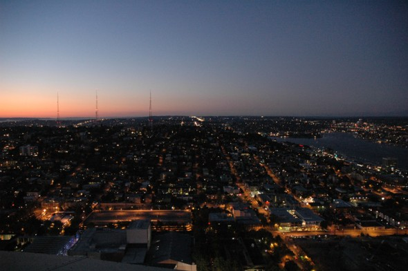 @ The Space Needle looking north.
