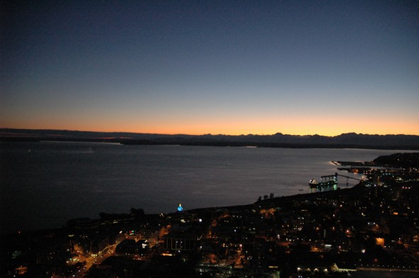 @ The Space Needle looking east.