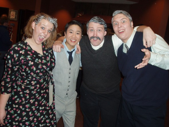 (L to R) The amazing Jessica Atkinson, Kevin Lin, Danger Leclair, <br />and Mike McCoy after their final performance.
