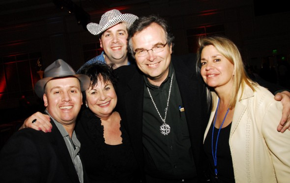 (L to R) Dion, Marianne, Ken, me, Mary @ ConExpo<br />(Mary is Marianne's friend and chief resource for name acts and event management.)