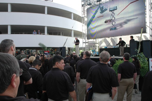 @ ConExpo: The building was finished just in time for this team meeting before the show opened.