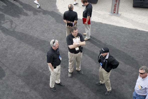 @ ConExpo: The Show is About to Begin! That's me chilling with Steve and Dion.
