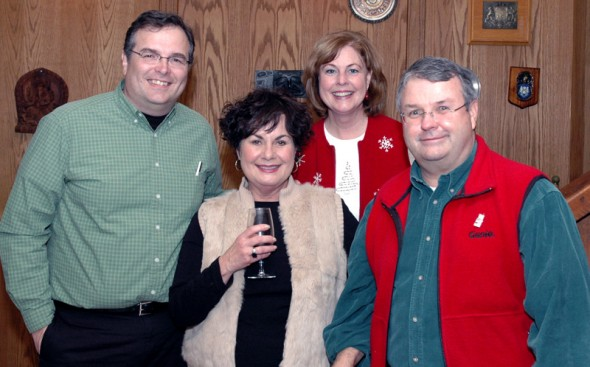 Me, Marianne, Debbie, Tom @ Holiday Party