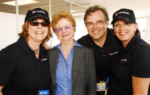 (L to R) Debbie, Judy (she booked Mike for us and was his right hand at the show), me and Colleen.